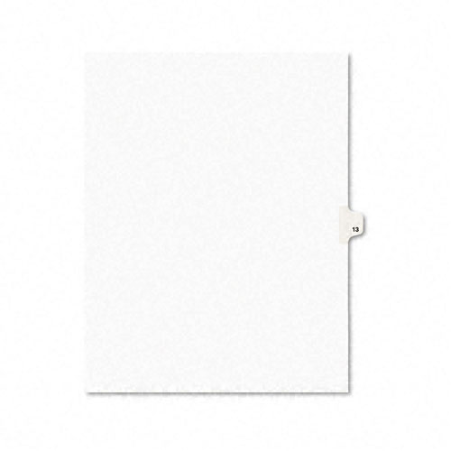 Preprinted Legal Exhibit Side Tab Index Dividers, Avery Style, 10-Tab, 13, 11 x 8.5, White, 25/Pack. Picture 1