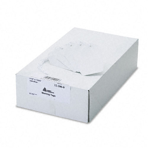 Medium-Weight White Marking Tags, 3 1/4 x 1 15/16, 1,000/Box. Picture 2