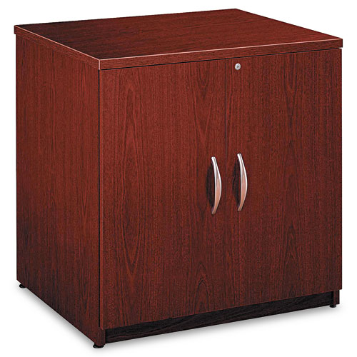 Bush Business Furniture Series C 30W Storage Cabinet, Mahogany. Picture 1