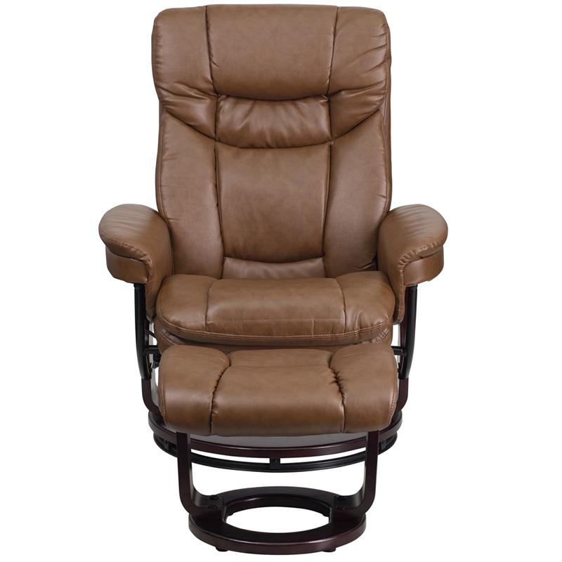 Contemporary Multi-Position Recliner and Curved Ottoman ...