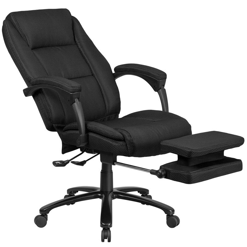 High Back Black Fabric Executive Reclining Swivel Office