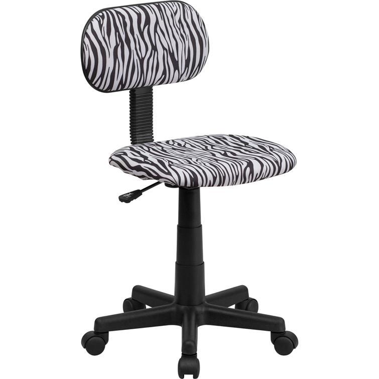 Black and White Zebra Print Swivel Task Office Chair