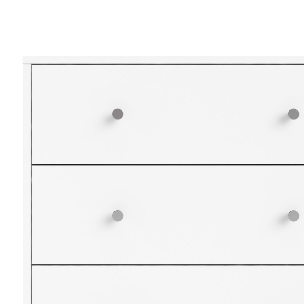 Portland 6 Drawer Double Dresser, White. Picture 7