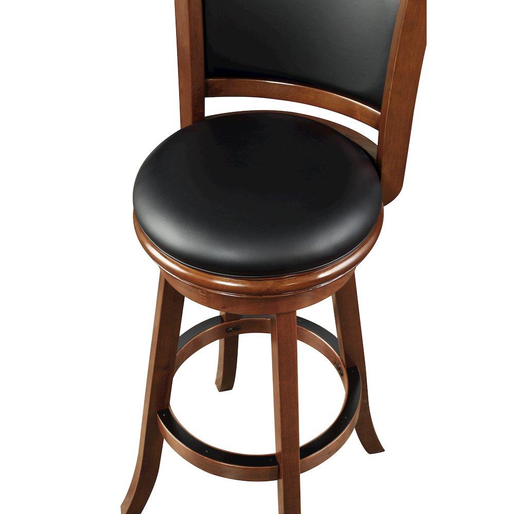 "Boraam Augusta 34"" Extra Tall Swivel Bar Stool, Cherry. Picture 4"