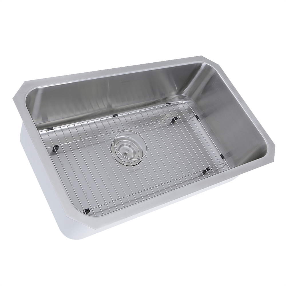 ns43 10 16 30 inch large rectangle single bowl undermount stainless steel kitchen sink 10 inches deep 10 16 30 inch large rectangle single bowl undermount stainless      rh   bisonoffice com