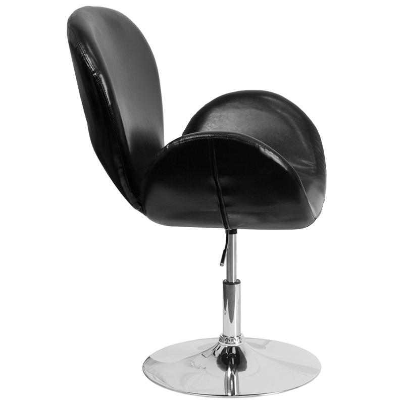 HERCULES Trestron Series Black LeatherSoft Side Reception Chair with Adjustable Height Seat. Picture 2