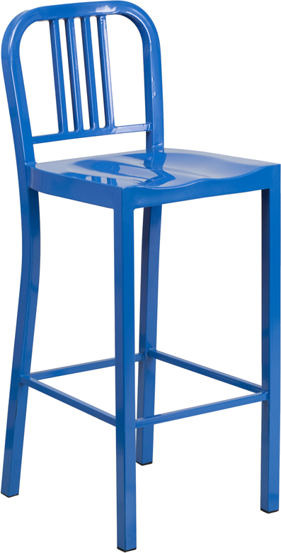 30 High Blue Metal Indoor Outdoor Barstool : ch 31200 30 bl gg from www.bisonoffice.com size 397 x 781 jpeg 133kB