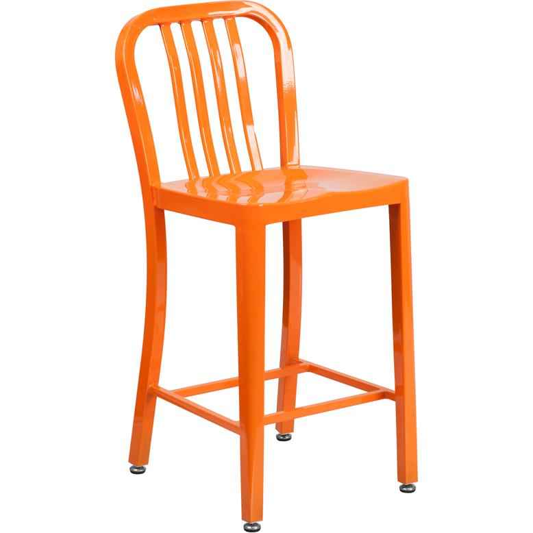 24 High Orange Metal Indoor Outdoor Counter Height Stool  : ch 61200 24 or gg from www.bisonoffice.com size 444 x 778 jpeg 157kB