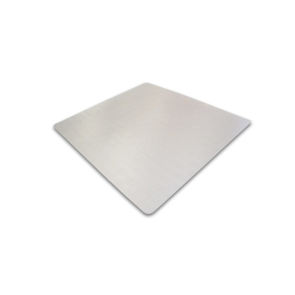 "Cleartex Ultimat Square Chair Mat, Polycarbonate, For Low & Medium Pile Carpets (up to 1/2""), Size 48"" x 48"". Picture 1"