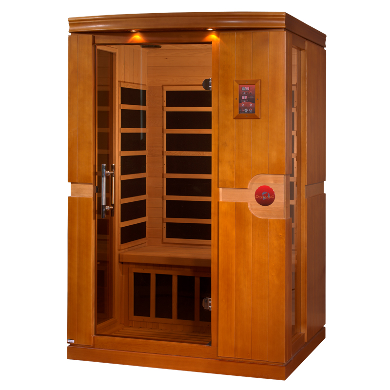 dynamic venice 2 person low emf far infrared sauna. Black Bedroom Furniture Sets. Home Design Ideas