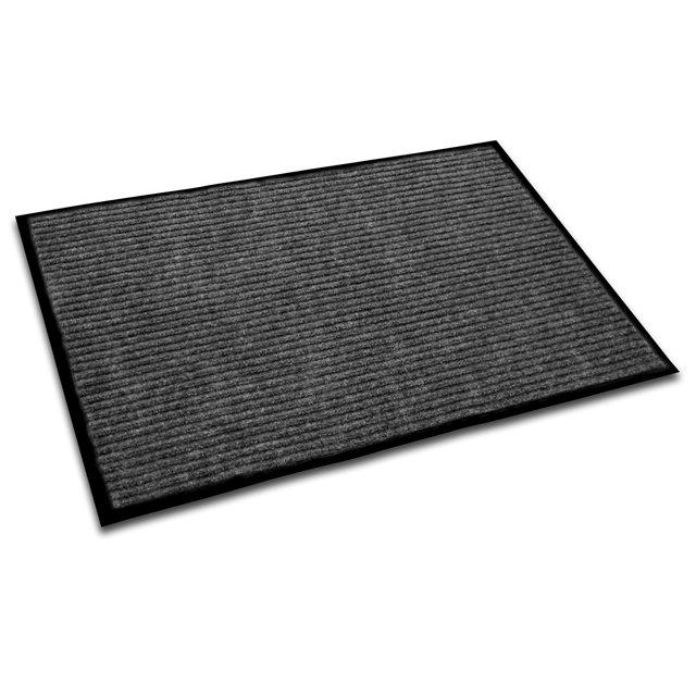 "Doortex Ribmat, Indoor Entrance Mat, Charcoal Gray, Rectangular, Size 24"" x 36"". Picture 1"