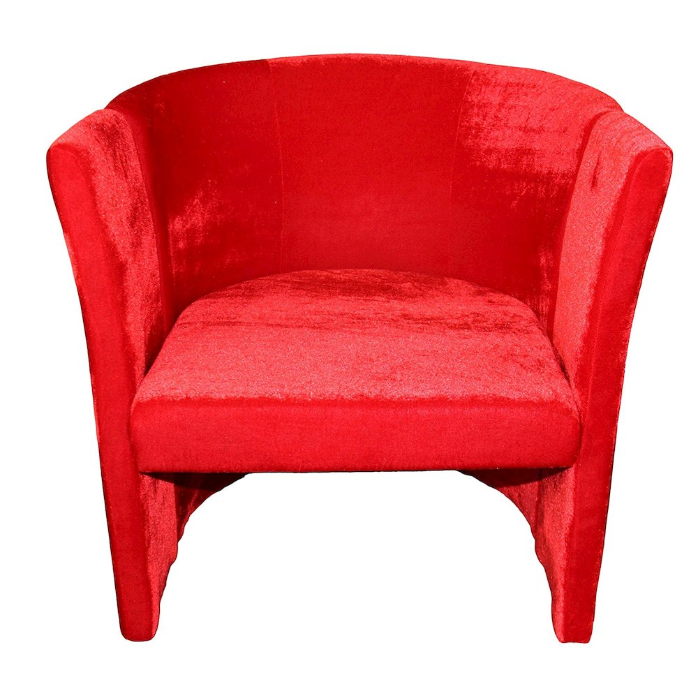 Red Microfiber Folding Chair. Picture 1