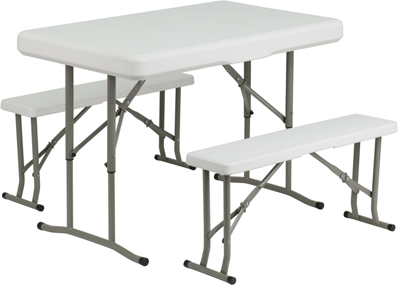 Plastic folding table and bench set watchthetrailerfo