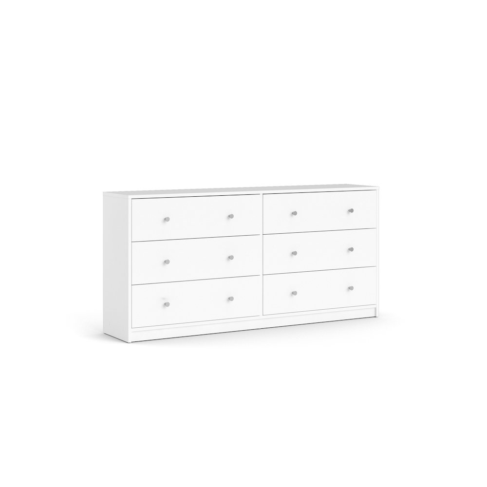 Portland 6 Drawer Double Dresser, White. Picture 6
