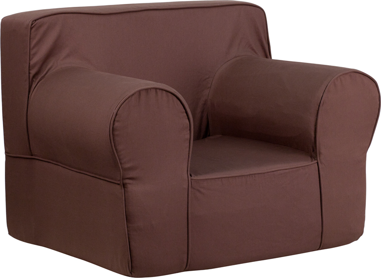 Oversized solid brown kids chair for Oversized kids chair
