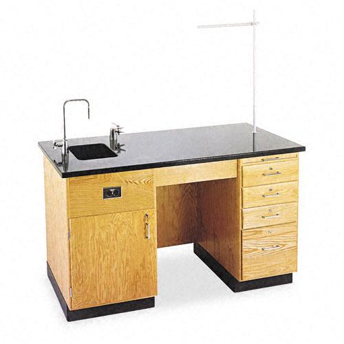 Instructor's Desk, 60w x 30d x 36h, Black. Picture 1