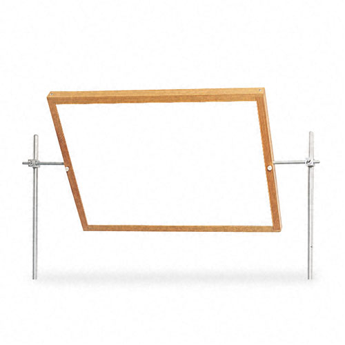 Optional Mirror/Markerboard for Mobile Tables, 27-3/4w x 20-3/4h, Oak Frame. Picture 1