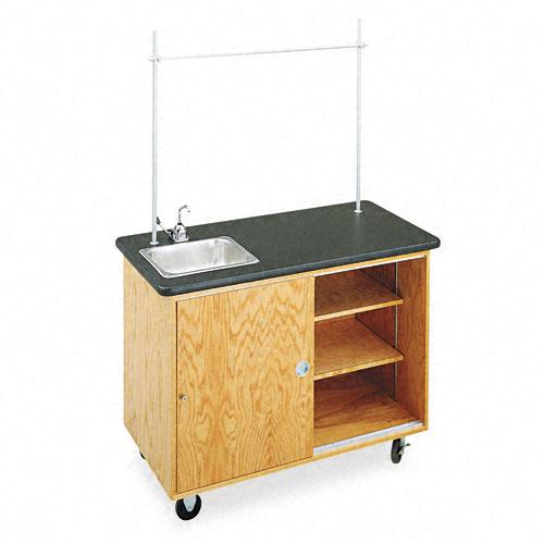 Economy Mobile Lab Table, Rectangular, 48w x 24d x 36h, Black. Picture 1