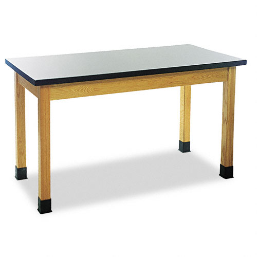 Science Table, Rectangular, 60w x 24d x 30h, Black. Picture 1