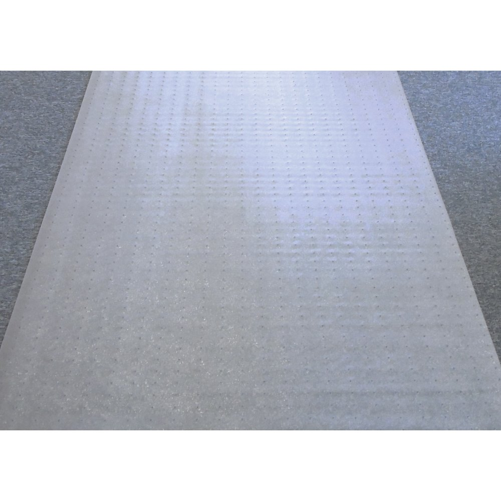 "Floortex Long & Strong Hallway Runner, Clear PVC Carpet Protector Roll, for Standard Pile Carpets, Size 36"" x 12ft. Picture 1"