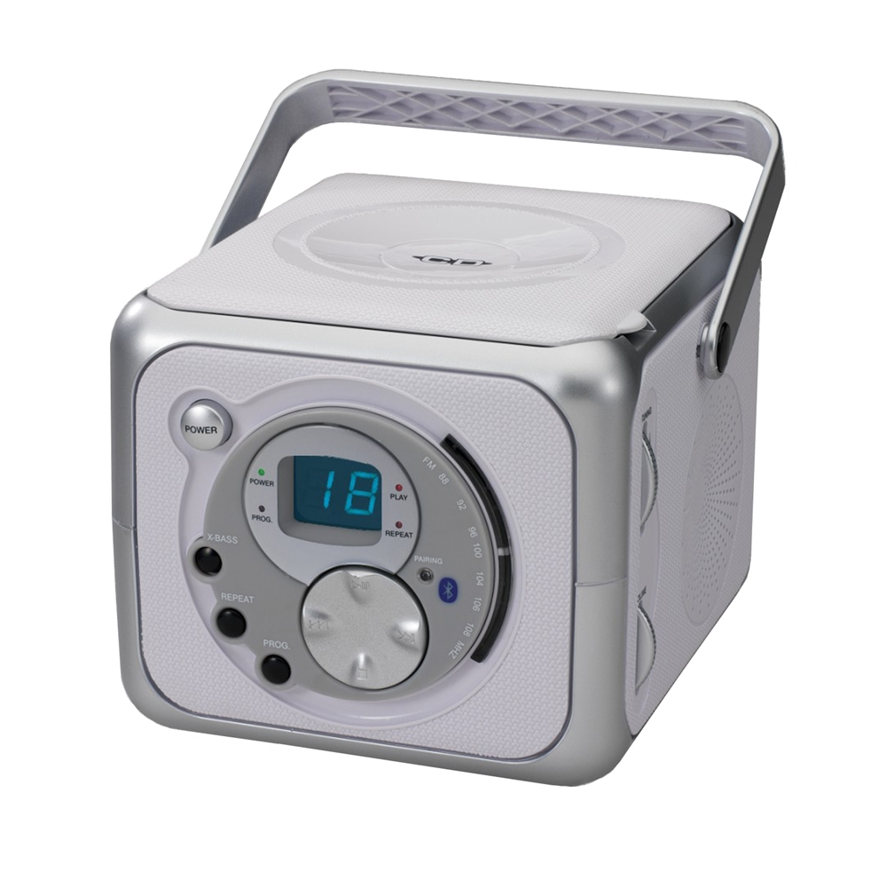 Jensen portable bluetooth music system with cd and fm radio - Mobile porta cd ...