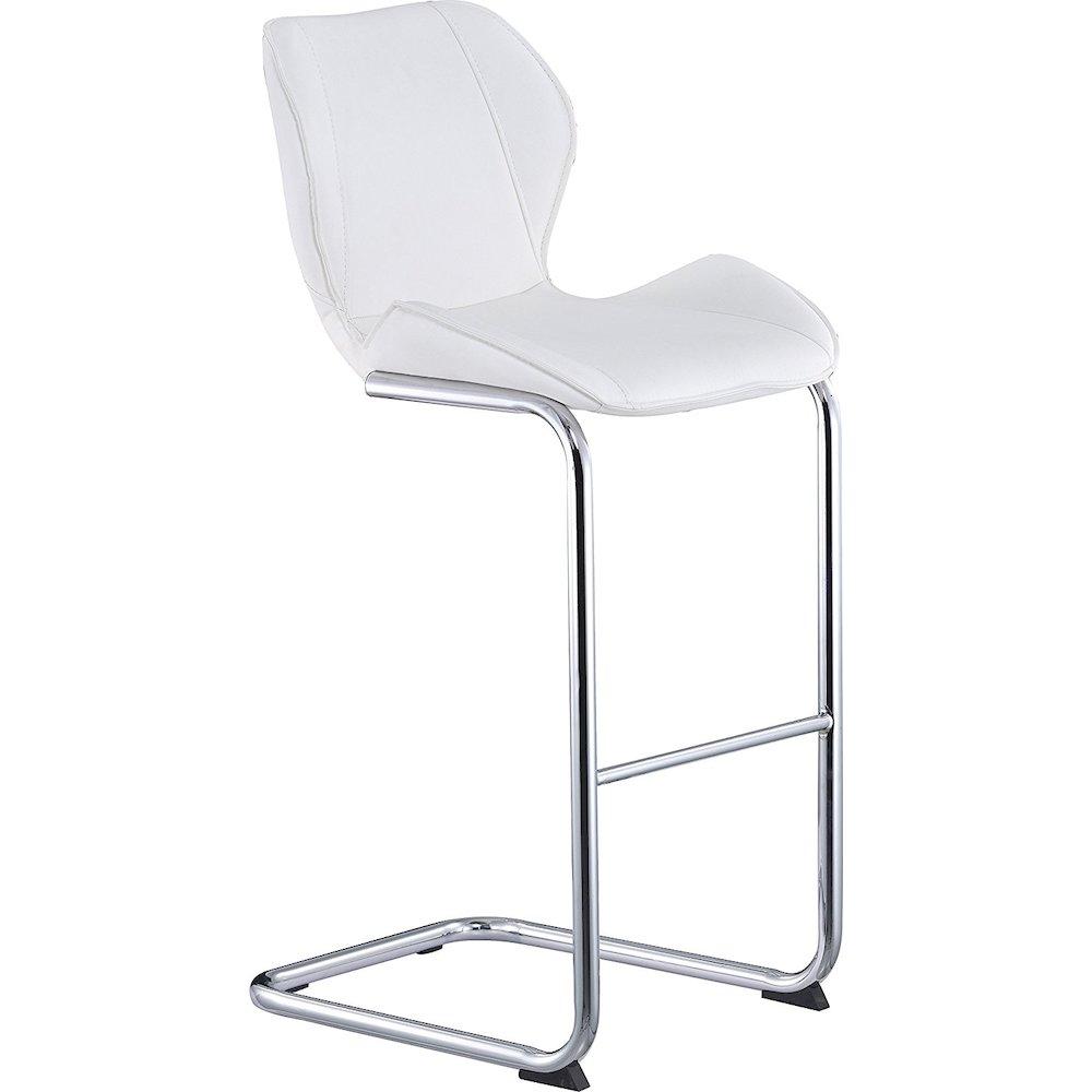 Global Furniture White Pu Curved Bar Stool 20x19x40 Inch White