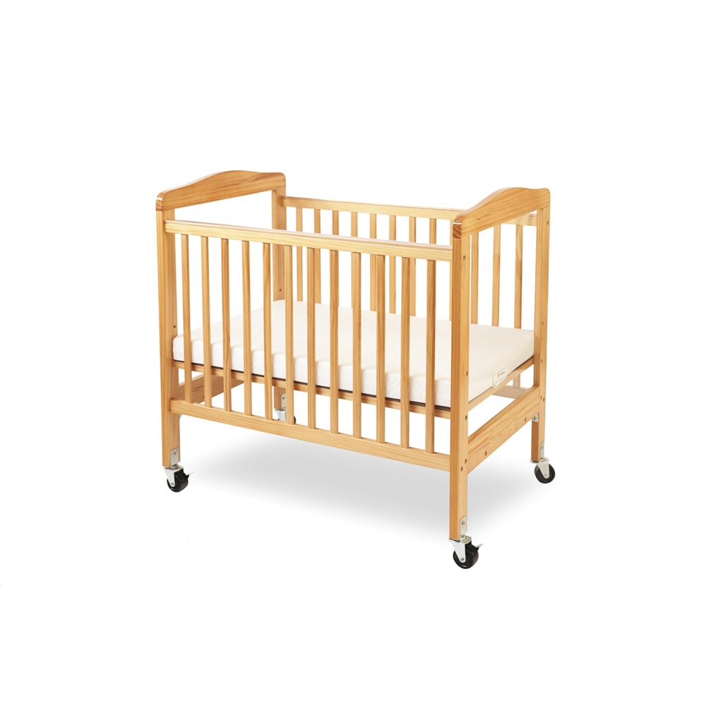 Compact Non-folding Wooden Window Crib, Natural. Picture 2