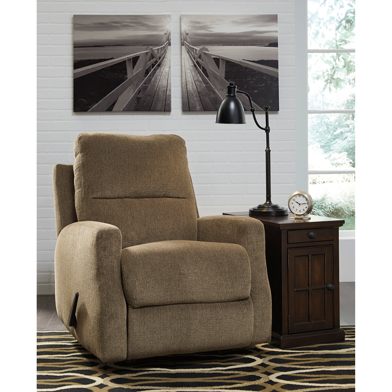 Signature Design By Ashley Fambro Rocker Recliner In Hazel