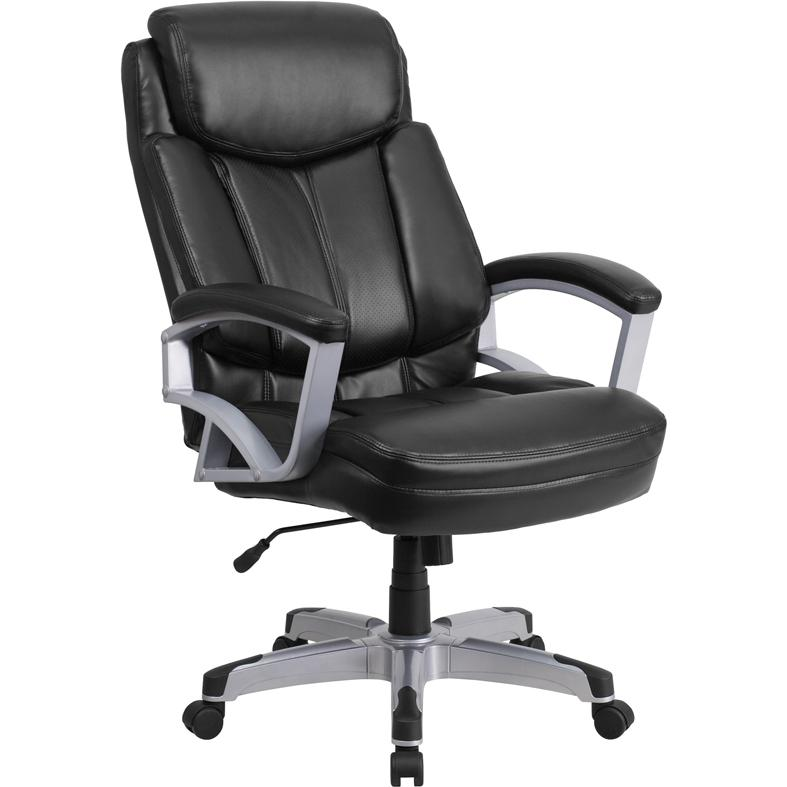 lb capacity big tall black leather executive swivel office chair