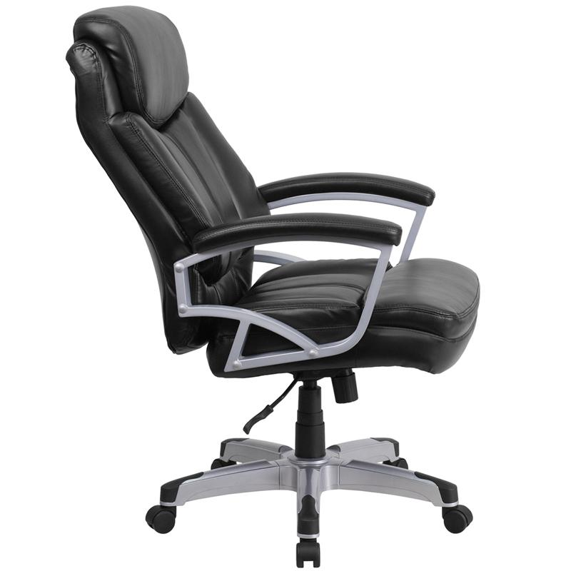 HERCULES Series Big & Tall 500 lb. Rated Black LeatherSoft Executive Swivel Ergonomic Office Chair with Arms. Picture 2