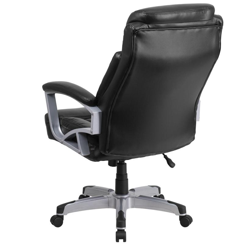 HERCULES Series Big & Tall 500 lb. Rated Black LeatherSoft Executive Swivel Ergonomic Office Chair with Arms. Picture 3