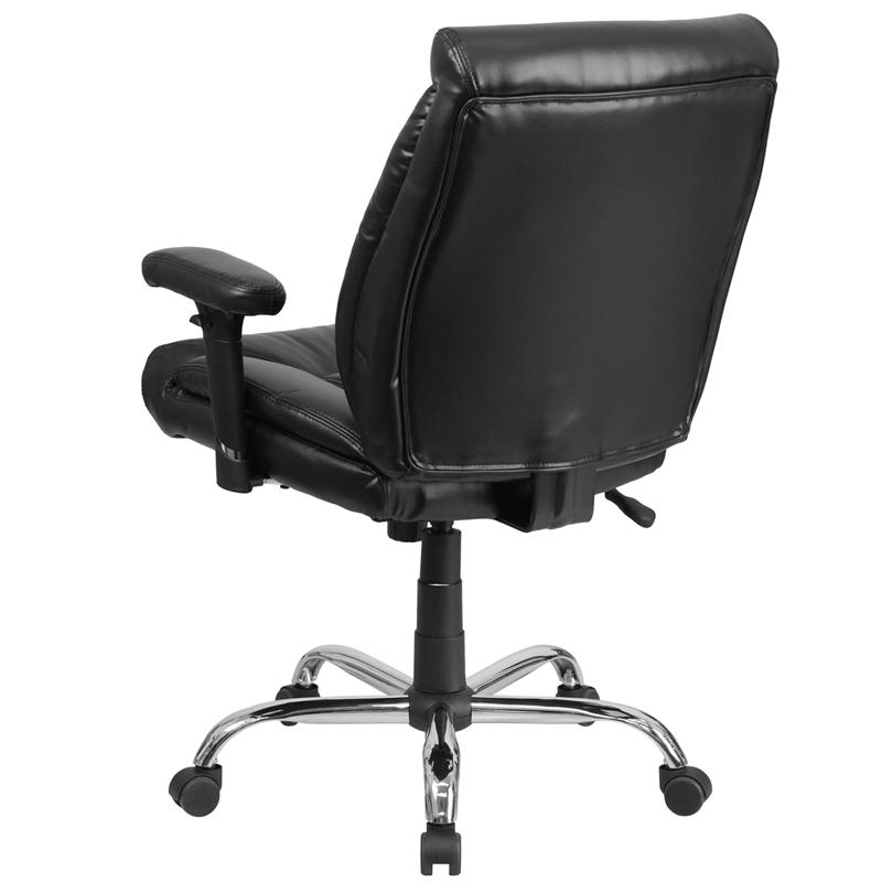HERCULES Series Big Tall 400 Lb Rated Black Leather Swivel Task Chair