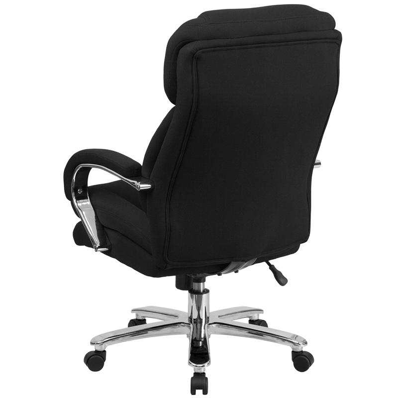 HERCULES Series 24/7 Intensive Use Big & Tall 500 lb. Rated Black Fabric Executive Ergonomic Office Chair with Loop Arms. Picture 3