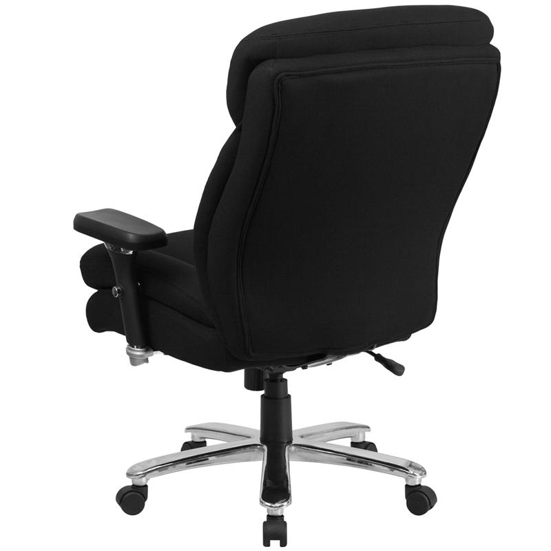 HERCULES Series 24/7 Intensive- Use Big & Tall 400 lb. Rated Black Fabric Executive Ergonomic Office Chair with Lumbar Knob. Picture 3