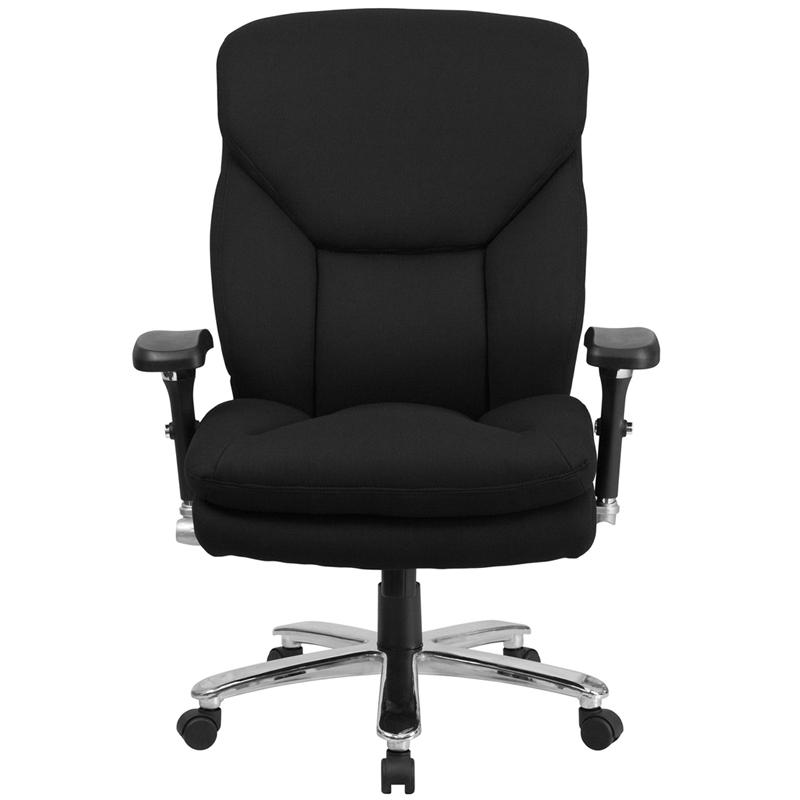 HERCULES Series 24/7 Intensive- Use Big & Tall 400 lb. Rated Black Fabric Executive Ergonomic Office Chair with Lumbar Knob. Picture 4