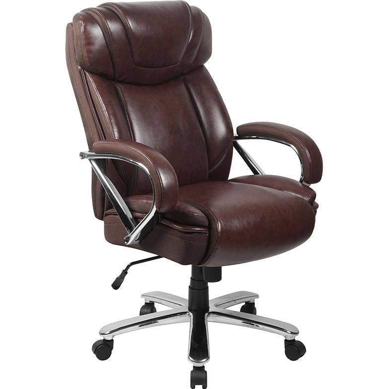 HERCULES Series Big & Tall 500 lb. Rated Brown LeatherSoft ...