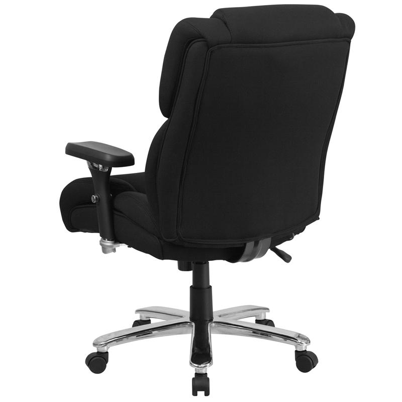 HERCULES Series 24/7 Intensive Use Big & Tall 400 lb. Rated Black Fabric Executive Ergonomic Office Chair with Lumbar Knob. Picture 3