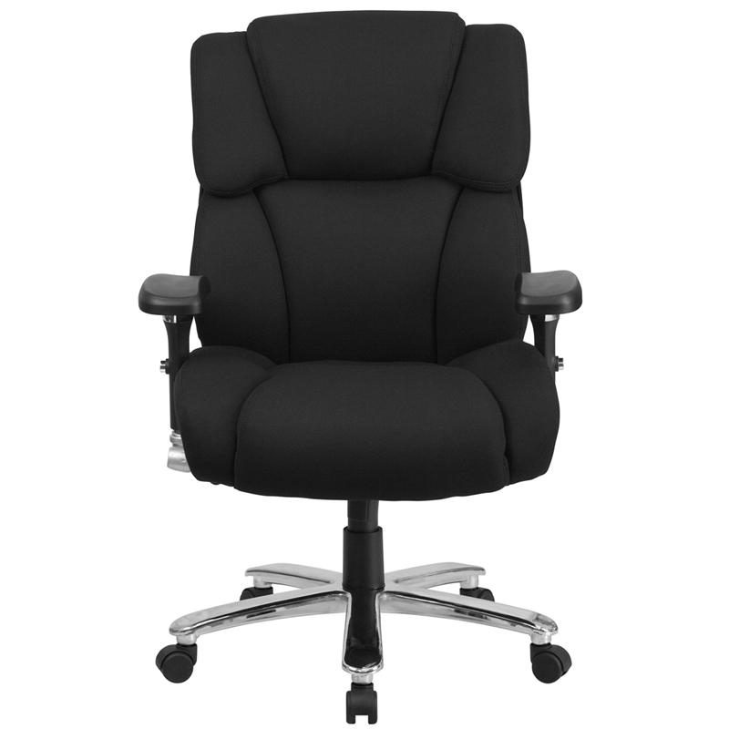 HERCULES Series 24/7 Intensive Use Big & Tall 400 lb. Rated Black Fabric Executive Ergonomic Office Chair with Lumbar Knob. Picture 4