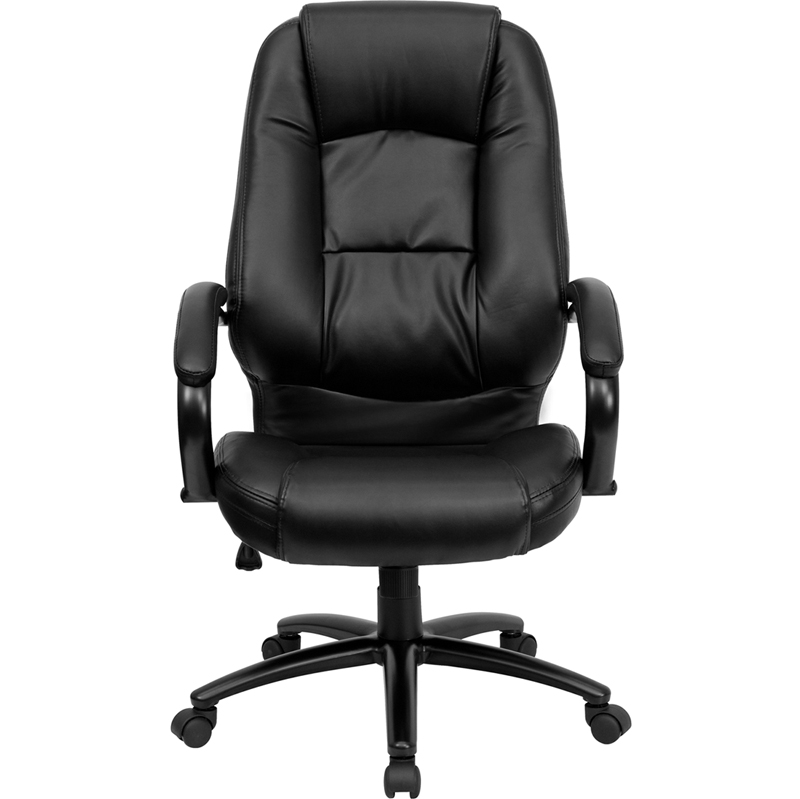 High Back Black Leather Executive Swivel fice Chair