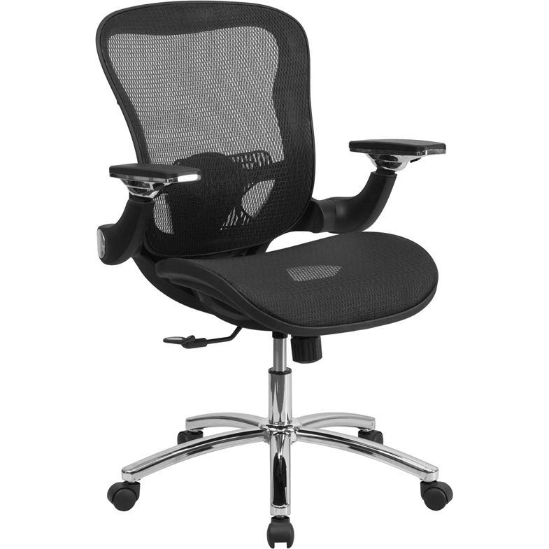Mid Back Transparent Black Mesh Executive Swivel Chair