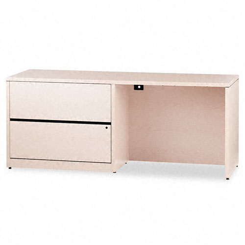 10500 Series Credenza w/Left Lateral File, 72w x 24d x 29-1/2h, Natural Maple. Picture 1