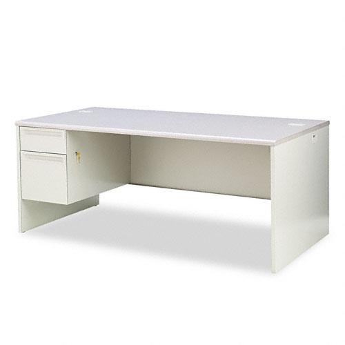 38000 Series Left Pedestal Desk, 72w x 36d x 29-1/2h, Gray Patterned/Light Gray. Picture 1