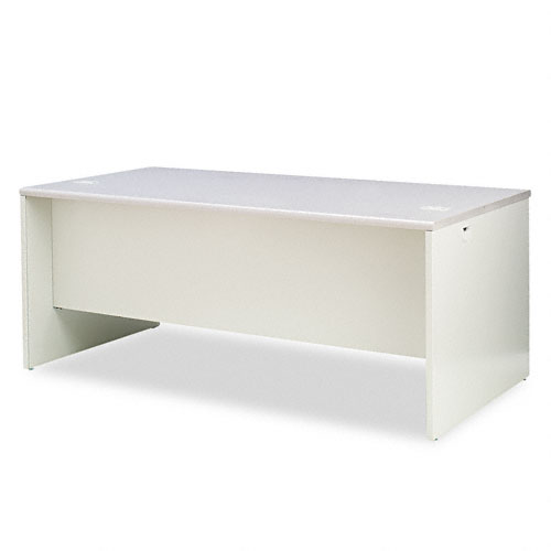 38000 Series Left Pedestal Desk, 72w x 36d x 29-1/2h, Gray Patterned/Light Gray. Picture 2