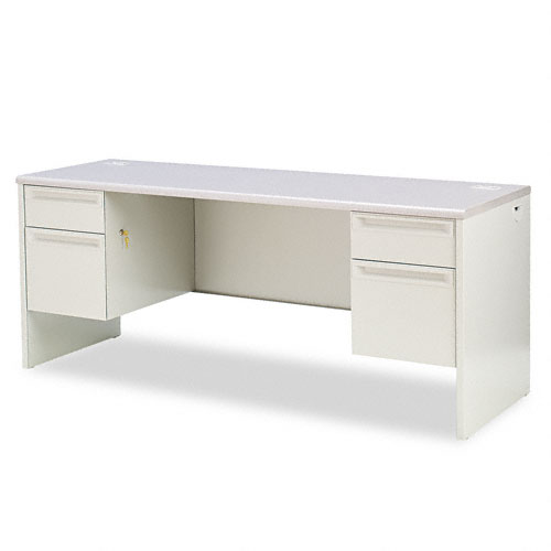 38000 Series Kneespace Credenza, 72w x 24d x 29-1/2h, Gray Patterned/Light Gray. Picture 1