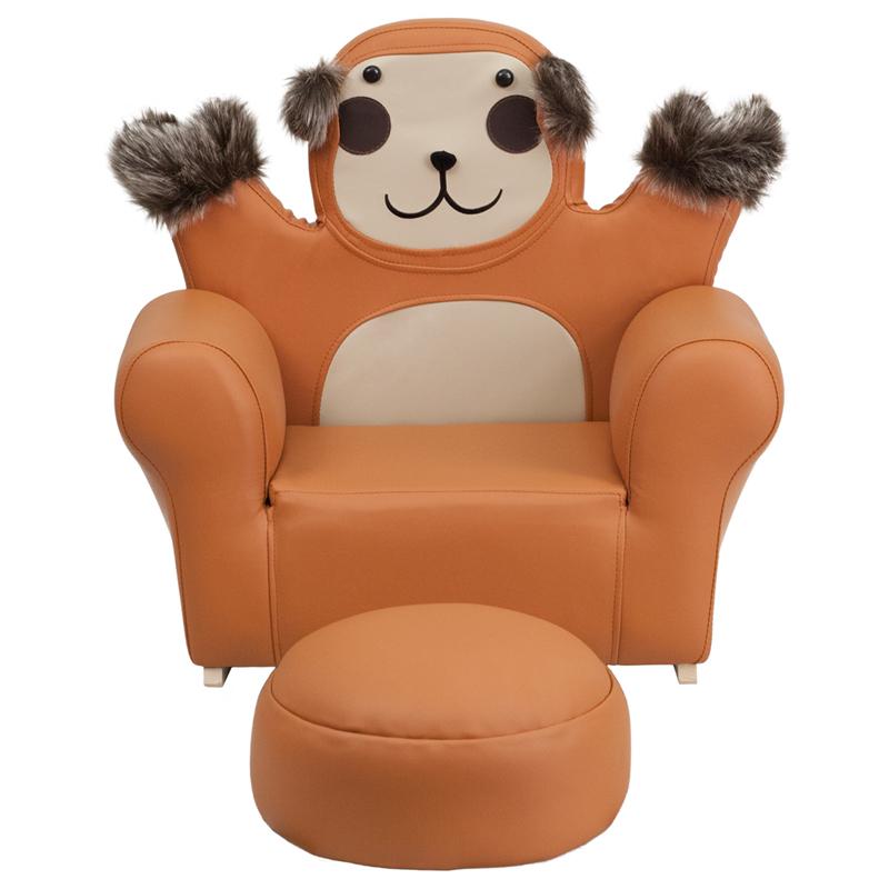 Flash Furniture Kids Monkey Rocker Chair And Footrest