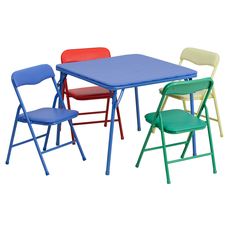 sc 1 st  BisonOffice.com & Kids Colorful 5 Piece Folding Table and Chair Set