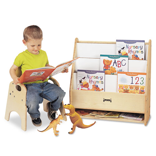 Toddler Pick-a-Book Stand, 24w x 9d x 25h, Birch. Picture 1