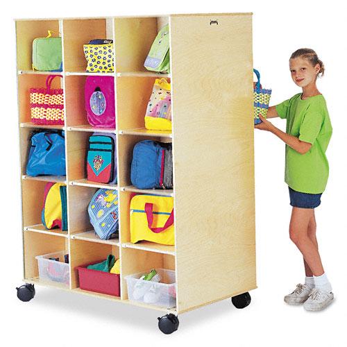 Big Twin Storage Cabinet, 48w x 29d x 29-1/2h, Birch. Picture 1