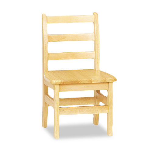 """Kydz Ladderback Chair, 12"""" High Seat, 2/Carton. Picture 1"""