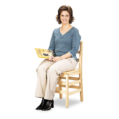 """Kydz Ladderback Chair, 18"""" High Seat, 2/Carton. Picture 1"""